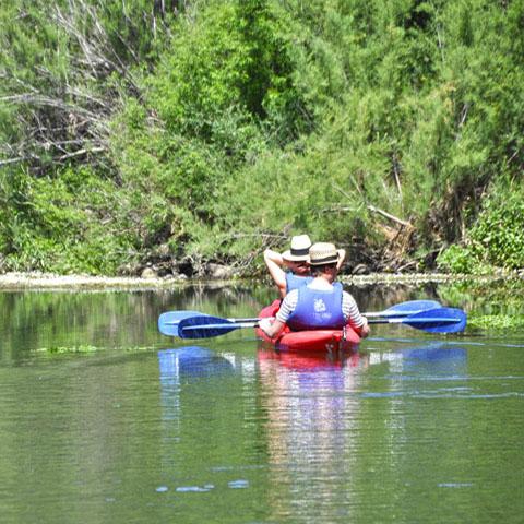 Canoa sul fiume Cedrino, Oliena
